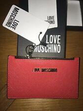 Portafogli Porta documenti Rosso Love moschino LOGO Porta Monete con zip