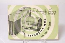 F66440~ Original Ricoh 500 Camera Instructions 25 Pages