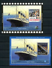 Turkmenistan 1998 MNH Titanic 2x 1v M/S Cinema Movies Ships Boats Stamps