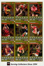 2007 AFL Teamcoach Trading Card Gold Team Set Melbourne(12)