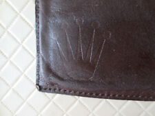 Rolex Vintage Leather Wallet Dark Brown