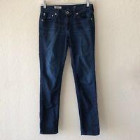 AG Adriano Goldschmied 26 The Stilt Cigarette Jeans Slim Skinny Ankle Dark Wash