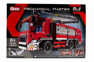 Qihui Mechanical Master NO. 6805 Feuerwehr Truck 2in1 Bausatz Klemmbausteine Set