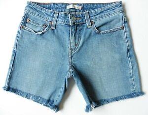 Women's Levis Denim Shorts Size 8 Blue W26 Levi Strauss Hotpants Eur 34