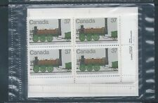 Canada #1001 Canadian Locomotives (1836-1860) - 1 PO Sealed Set Plate Block MNH