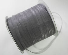 15 Meters Sheer Organza Ribbon - Slate Grey - 6mm