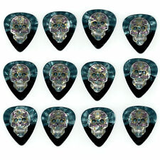 12 Pack DAY DEAD SUGAR SKULL Pearl Medium Gauge Guitar Picks Plectrum