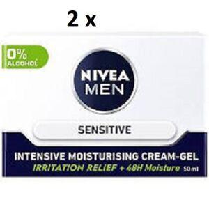 2 x Nivea Men SENSITIVE Intensive Moisturising Cream-Gel 50ml EACH