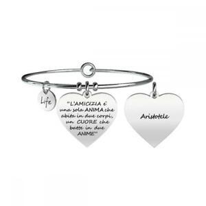 Bracciale Donna KIDULT LOVE 731095 Acciaio Aristotele Amicizia