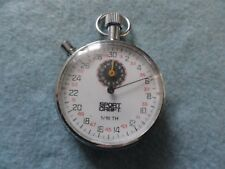 Vintage Swiss Made Sport Craft 1/10th Mechanical Wind Up Stop Watch Stopwatch