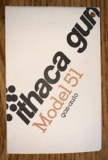 Ithaca Model 51 Gas Auto Owner's Manual