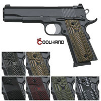 Coolhand 1911 Slim G10 Grips Full Size Mag Release Ambi Safety Cut OPS Texture