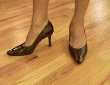 Liz Claiborne, animal print, brown/black, high heel pumps, size 6.5