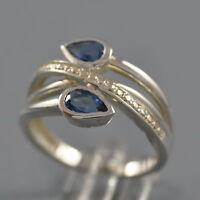 London Blue Topas Ring 925er Sterling Silber Blautopas Gr. 57 NEU