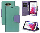 MINT PURPLE INFOLIO WALLET CREDIT CARD ID CASH CASE COVER STAND FOR LG G5 PHONE