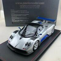 1/18 Peako Pagani Zonda C12 Monza Silver / Blue Limited 100 pcs
