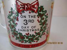 Luminarc 3rd DAY OF CHRISTMAS Twelve Days of Christmas Glass Coffee Cup