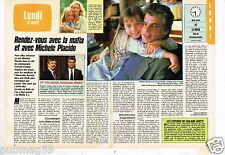 Coupure de presse Clipping 1987 (2 pages) Mounia muse de Yves Saint laurent