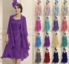 New Formal Women Evening Dress Mother of the Bride & Free Chiffon Jacket 6-20