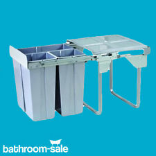 600mm Integrated Kitchen Eco Waste Bin 68 Ltr Base Mounted Pull Out Fitted
