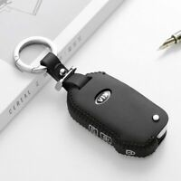 Leather Key Cover Car Key Fob Bag Case Wallet Holder for Kia Sportage Fold K3