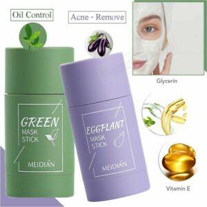 AMAZING~ Green Tea Eggplant Purifying Clay Stick Mask Skin Oil Control Anti-Acne