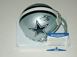 Emmitt Smith #22 signed Dallas Cowboys NFL Mini Helmet Beckett BAS COA
