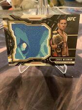 Chris Weidman Jumbo Fight Mat Relic () 2015 Topps UFC Chronicles Camo Blue