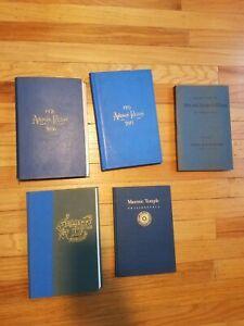 Mason Books AHIMAN REZON, PENNSYLVANIA 1956, 1915, Charity Lodge, Free Accepted
