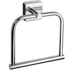 Square Towel Ring Stainless Steel Holder Hanger Wall Mounted 3m Self Adhesive