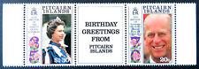 1991 Pitcairn Islands Stamps - Royal Birthdays - Gutter Set of 2 - Tabs MNH