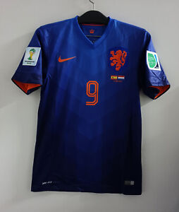 2014 WorldCup HOLLAND Away No.9 Van Persie S/S Spain Match Size S Jersey Trikot