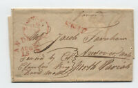 1832 Boston stampless incoming from Buenos Aires forwarded [45.45]