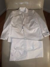 NWTs EXPRESS $178 WHITE EXTRA SLIM SUIT JACKET SIZE 42 42R & PANTS 32x32