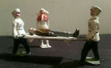 Vintage Lead Britains And Johillco Stretcher Bearers, Patient And Nurse