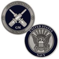 NEW U.S. Navy Gunner's Mate (GM) Challenge Coin.