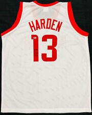 f2703f5e9 NBA Houston Rockets James Harden Signed Home White Jersey Auto - Beckett  BAS COA