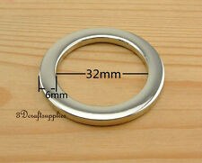 metal O rings O-ring purse ring connector nickel alloy 32mm 1 1/4 inch 10pcs U82