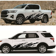 2x Racing Side Door Fender Skirt Stripes Decal Stickers Fit for Car Trucks Chevy