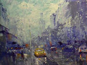 Original Painting by American Artist Rukie Jackson /Cityscape #RK_0360AC19