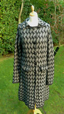 Miss Sixty black & white knitted coat size L                               (B35)