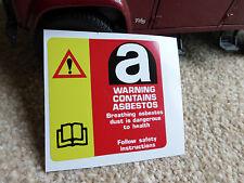 Land Rover Range Defender 90 110 Asbestos Warning Radiator Decal Label Badge