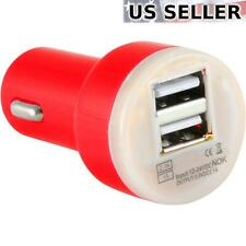 (5-pack) Dual USB 2 Port Universal Car Charger DC Adapter 5V 2.1A, Red 5X