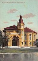 New Orleans Louisiana~First Methodist Church~1908 Postcard