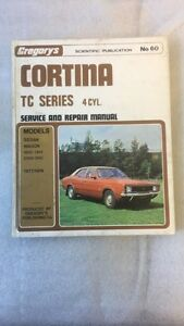 Ford Cortina TC Series 4Cyl 71/74 Service Manual by Gregory's No.60