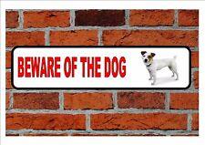 Jack Russell Beware of the Dog  Design Metal Door Sign