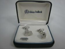 Dolan Bullock Sterling Silver Cufflinks Jeep SUV & Gas Can