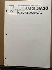 Original Service Manual for the Luxman 5M21 5M20 Power Amplifier Amp