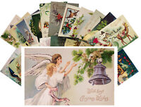 Postcards Pack [24 cards] Vintage Christmas Greeting Card Wishes Scenary CH4002