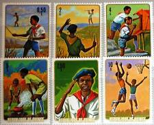 GUINEA 1974 706-11 A 678-83 Natl. Pioneer Boy Scouts Pfadfinder Sports MNH